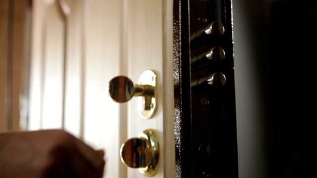 man turns new door locks video