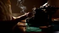 Man typing (HD) video