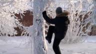 Man under the snow video