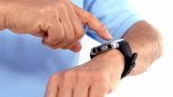 Man using his smartwatch video