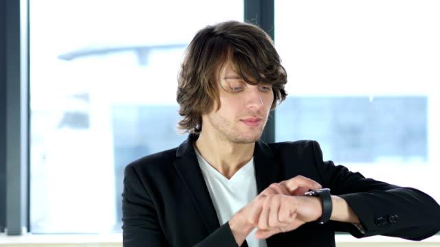 Man Using Smartwatch video