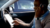 Man using tablet and having phone call video