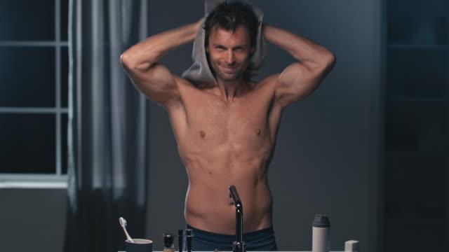 Man using towel video