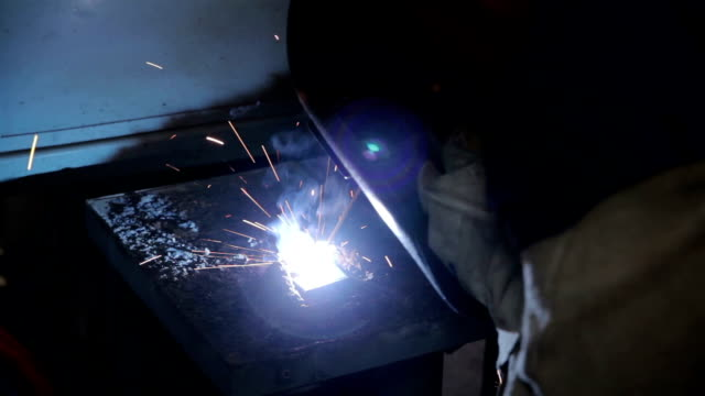 Man using welding machine video