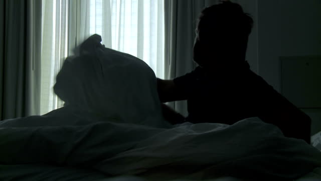 HD: Man Waking Up In The Morning video
