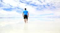 Man Walking in Salar de Uyuni, Bolivia video