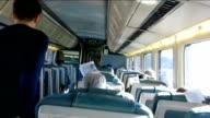 Man walking inside a train 1231x video