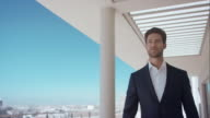 Man walking on rooftop of his penthouse video