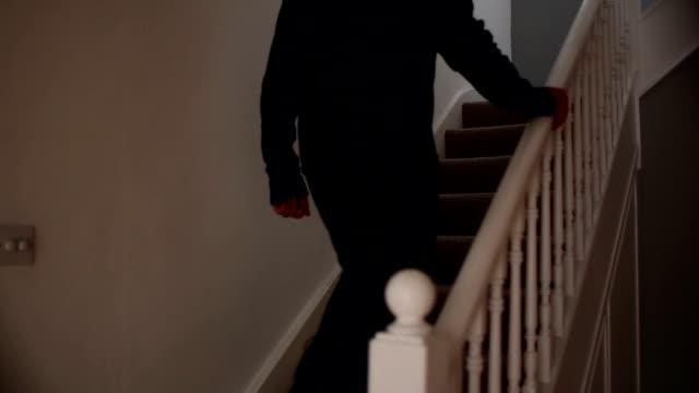 Man walking upstairs. video