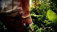 HD - Man Walking With Brass Knuckle video