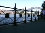 Man Walks Along Sydney Waterfront video