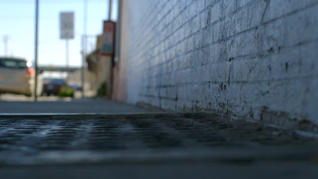 Man Walks Down Sidewalk video