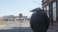 Man Walks Toward US and Mexico Border video