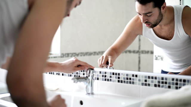 Man washing face video