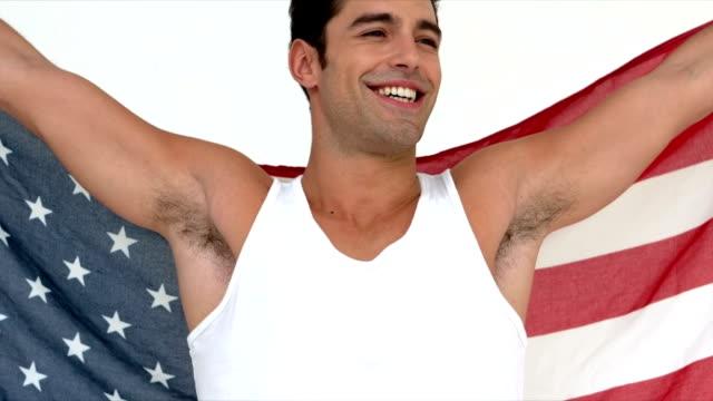 Man waving flag video