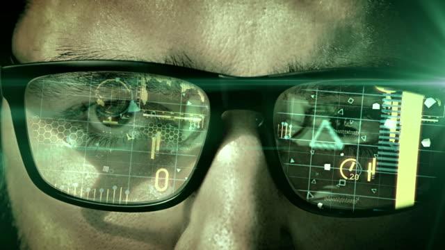 Man wearing virtual reality headset video