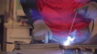 Man welding close up shot video