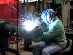 Man Welding in Factory 1 video