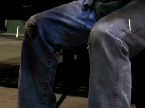 Man Welding in Factory 3 video