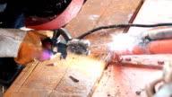 A man welding steel video