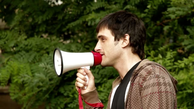 Man with a megaphone video