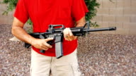 Man with AR-15 Quickly Loads a New Magazine video