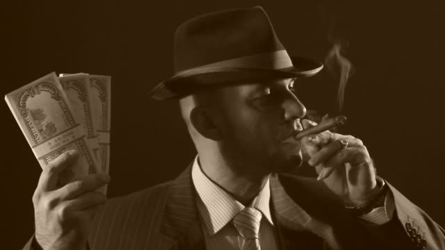 Man with bowler hat and cigar video