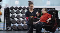 Man with Disability Workout with Personal Trainer video