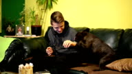 Man with dog video
