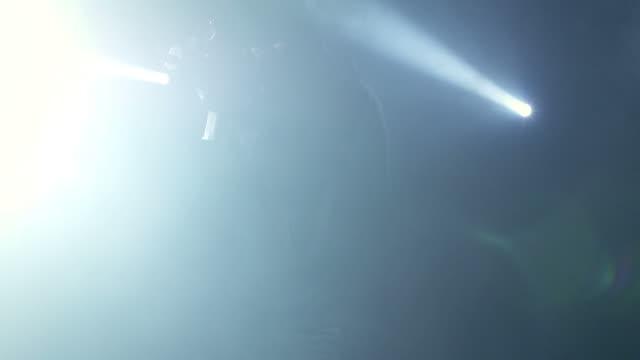 Man with gun in fog video