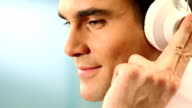 Man with headphones. video