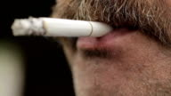Man with Mustache Smoking 3 video