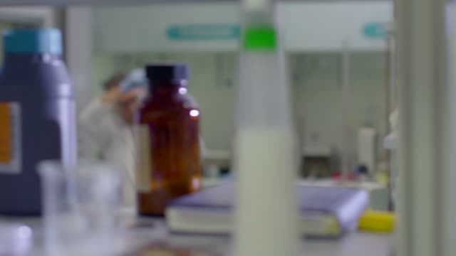 Man Working As Science Researcher People Staff Health Care Hospital video