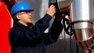 Man working in a power plant video