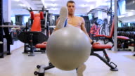 Man Working In Gym video