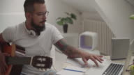 4K: Man Working In His Recording Studio. video