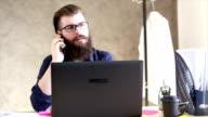 Man working on laptop video