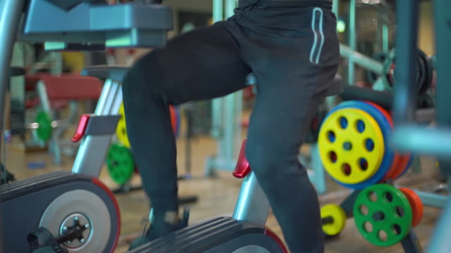 Man Working Out in the Gym video