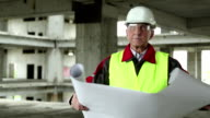 Manager of the works at construction site video
