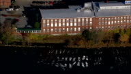 Manchester And Cotton Mills  - Aerial View - New Hampshire,  Hillsborough County,  United States video
