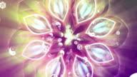 mandala religion Rainbow flower of life with aura video