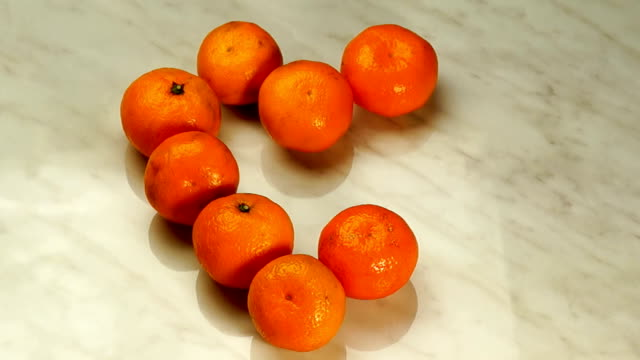 Mandarins in the Form of Heart video
