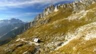 AERIAL Mangart Pass Hut video