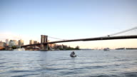 Manhattan and Brooklyn Bridge Panorama video