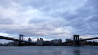 Manhattan and Brooklyn Bridge Time Lapse video