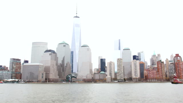 Manhattan and World Trade Center from ferry video