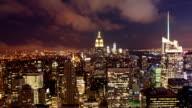Manhattan at night, New York video