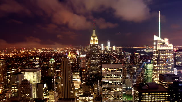Manhattan at night, New York video