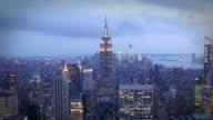 Manhattan la nuit, New York - Vidéo