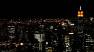 Manhattan at night video